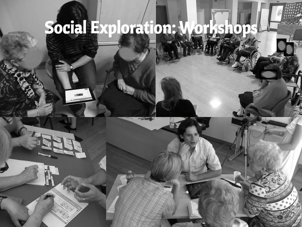 Social Exploration: Workshops