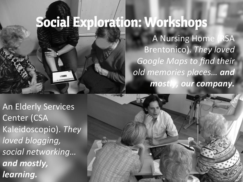 Social Exploration: Workshops A Nursing H...