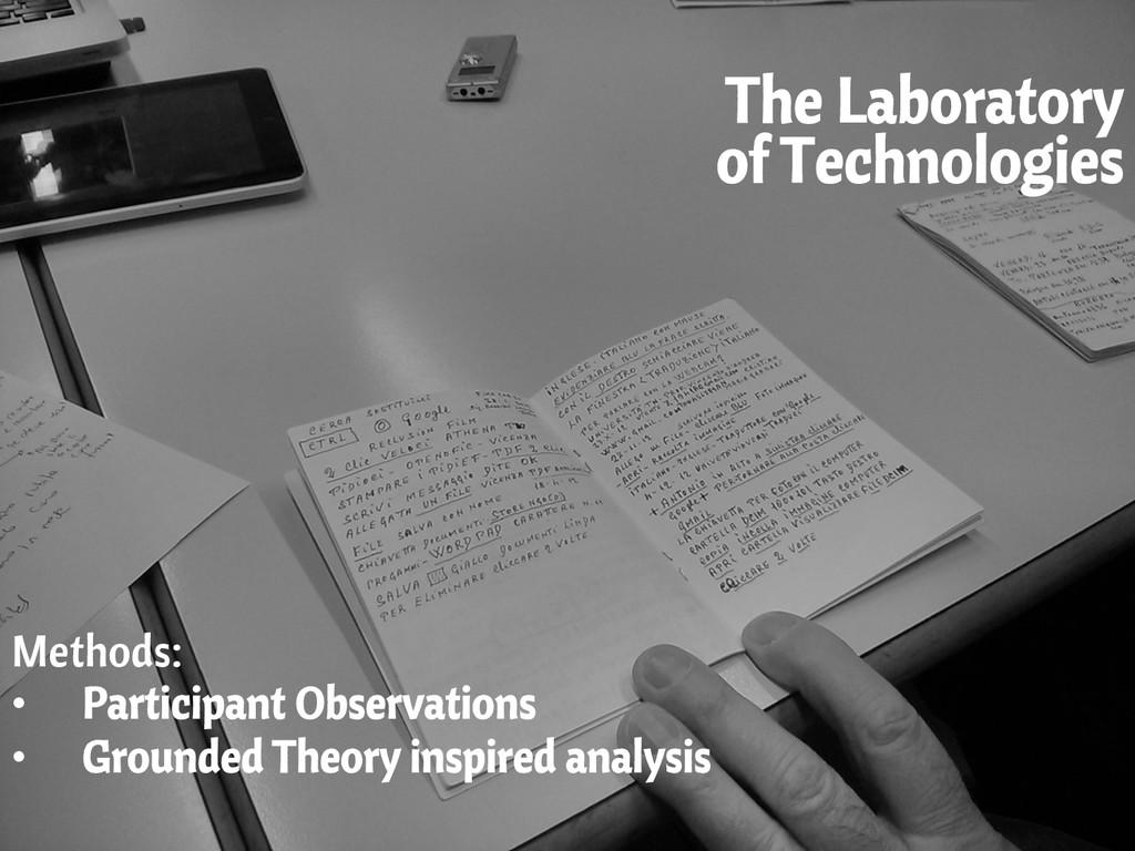 The Laboratory of Technologies Methods: • Part...
