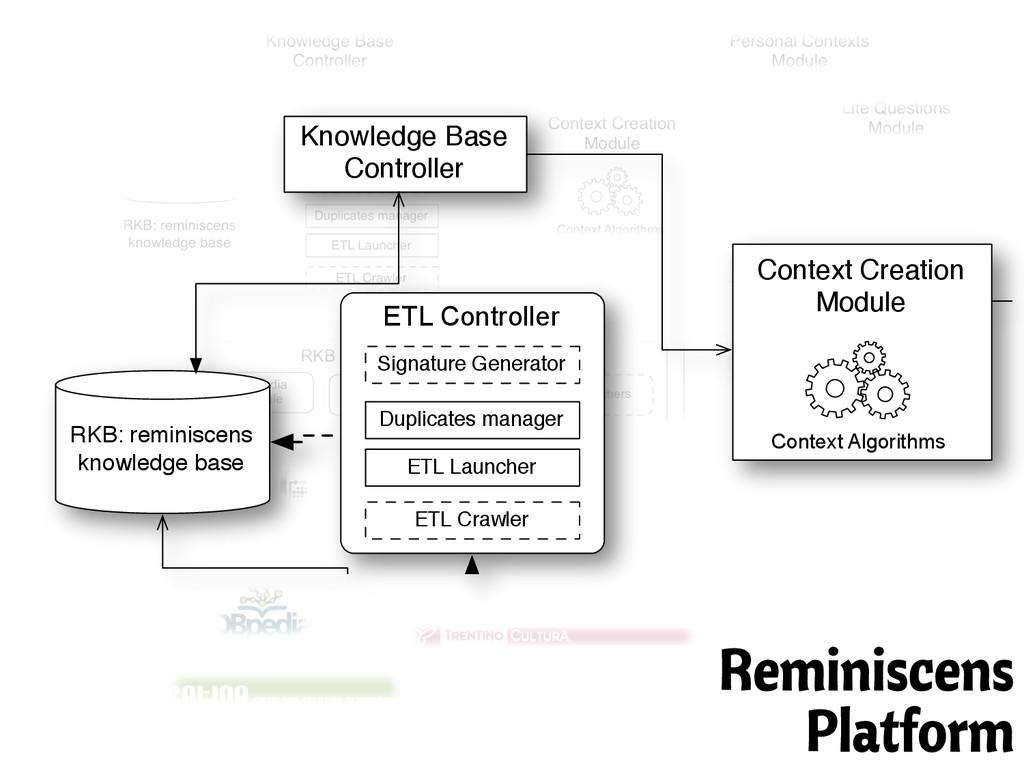 ETL Controller RKB: reminiscens knowledge base ...