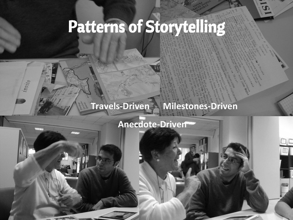 Patterns of Storytelling Travels-‐Driven  M...