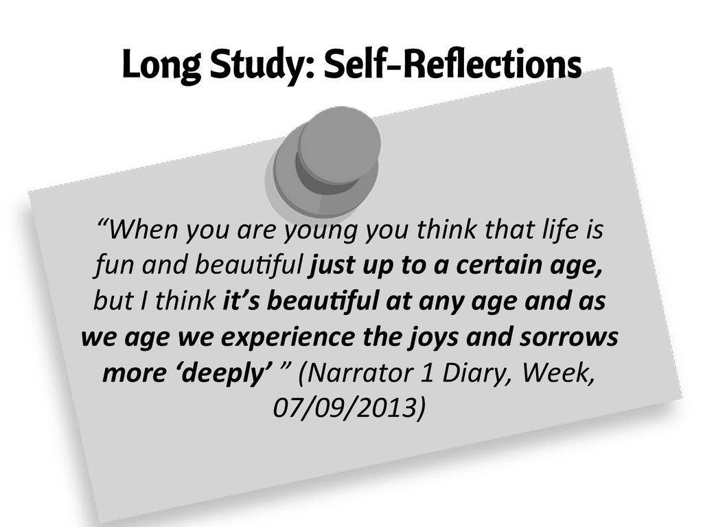 """Long Study: Self-Reflections """"When you are..."""