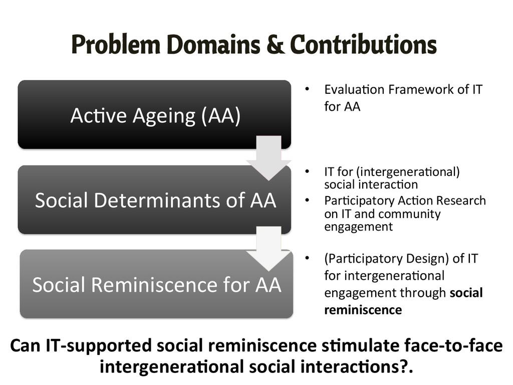 Ac,ve Ageing (AA)  Social Determina...
