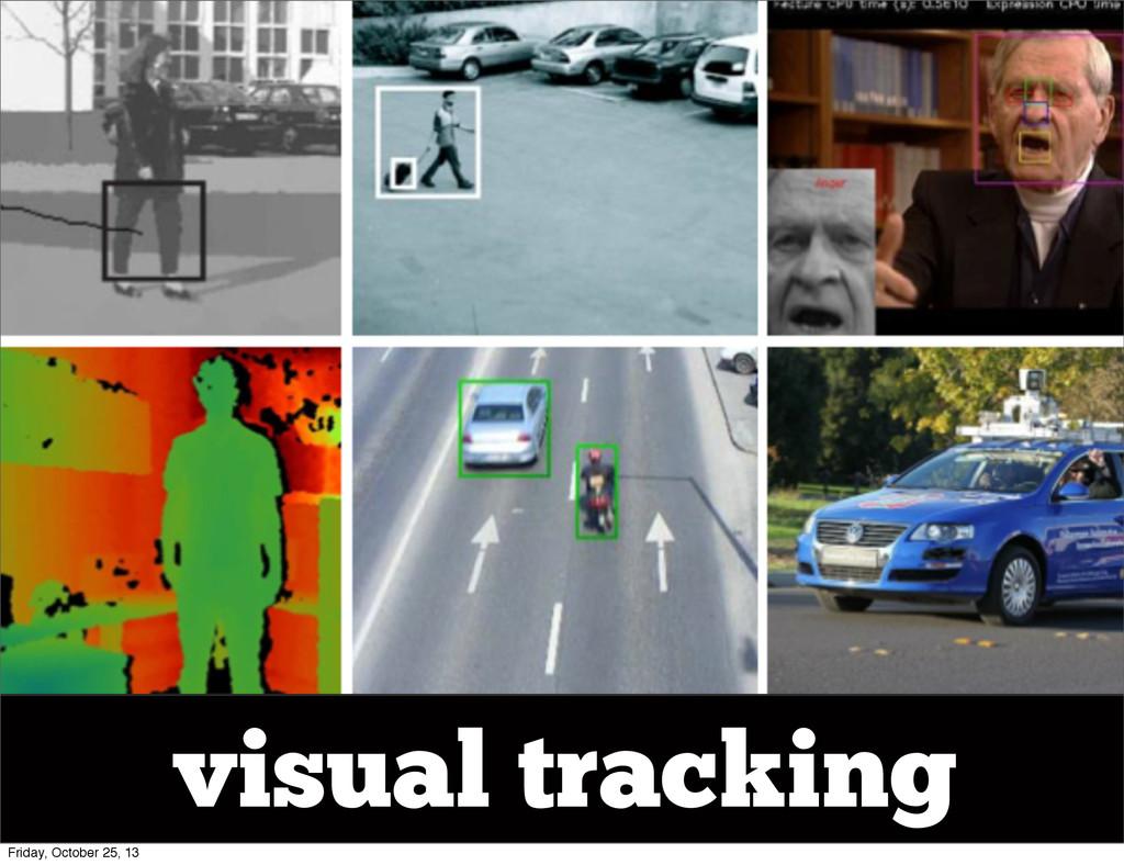 visual tracking Friday, October 25, 13