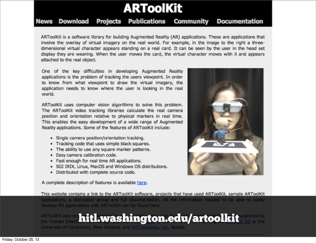 hitl.washington.edu/artoolkit Friday, October 2...