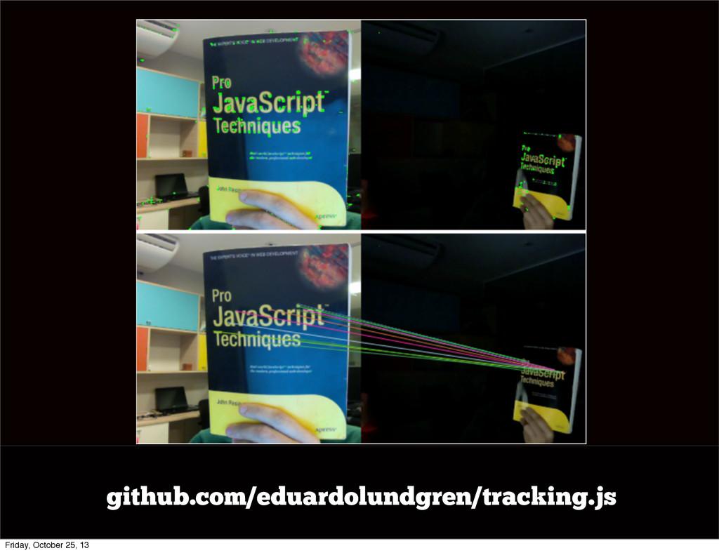 github.com/eduardolundgren/tracking.js Friday, ...