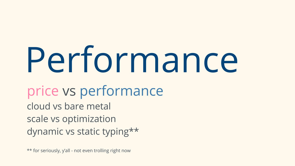 Performance price vs performance cloud vs bare ...