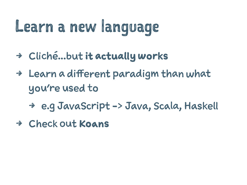 Learn a new language 4 Cliché...but it actually...