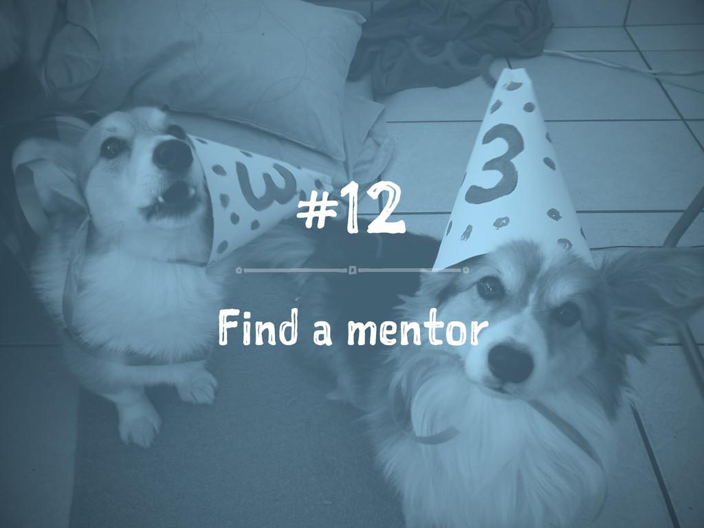 #12 Find a mentor