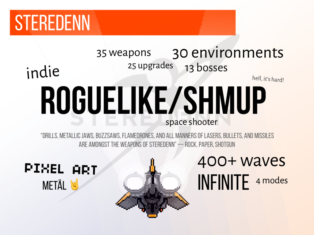 Steredenn roguelike/shmup space shooter 35 weap...