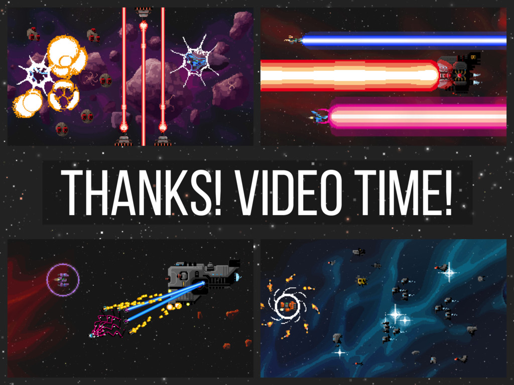 Thanks! video time!