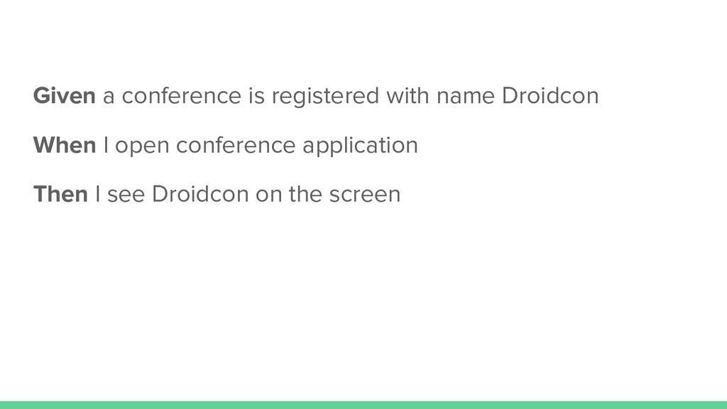 Given a conference is registered with name Droi...