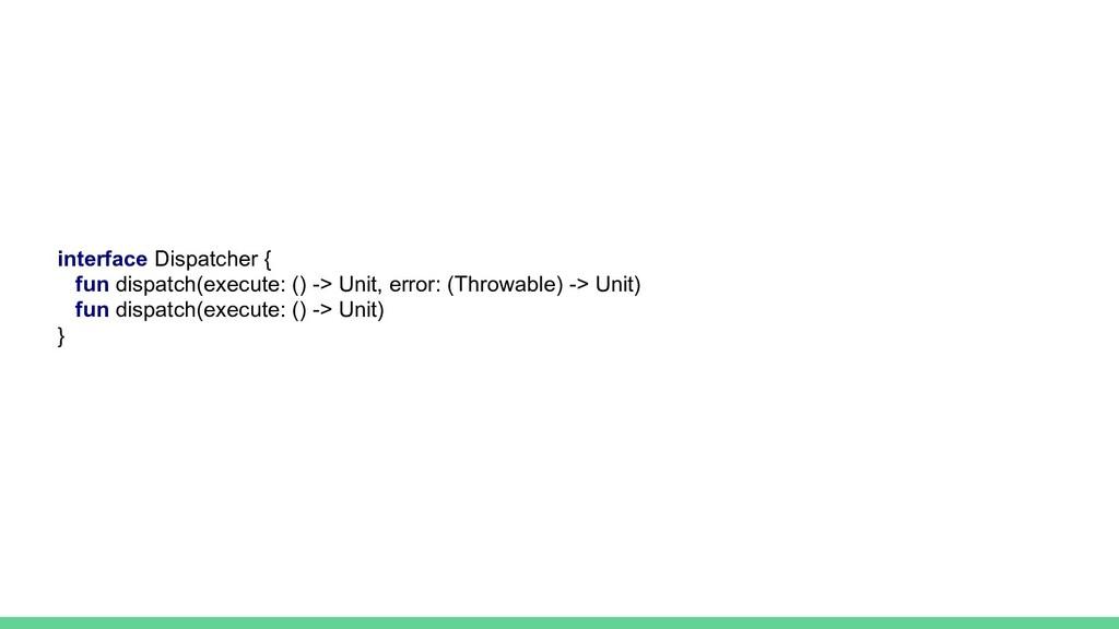 interface Dispatcher { fun dispatch(execute: ()...