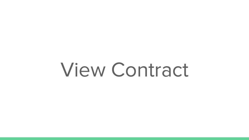 View Contract