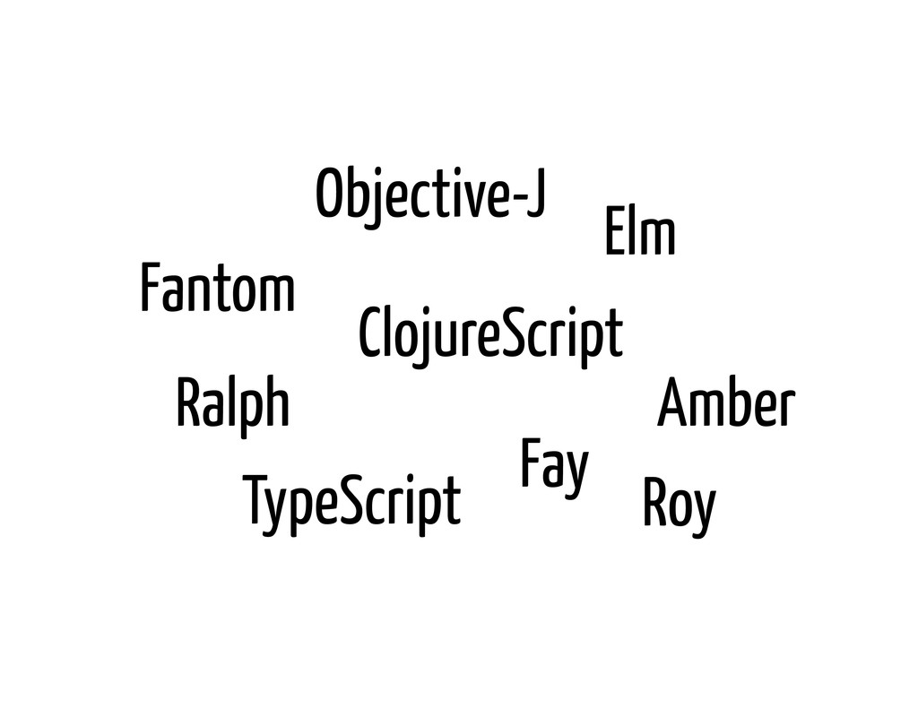 Fantom Fay Roy Ralph TypeScript Elm Objective-J...