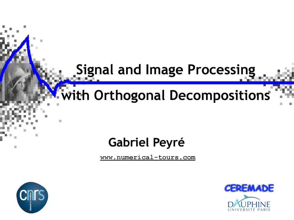 Signal and Image Processing with Orthogonal Dec...