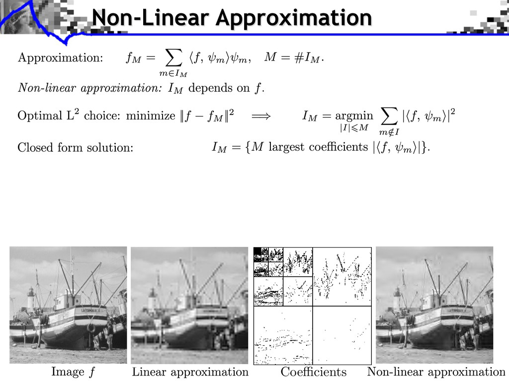 Coe cients Non-Linear Approximation