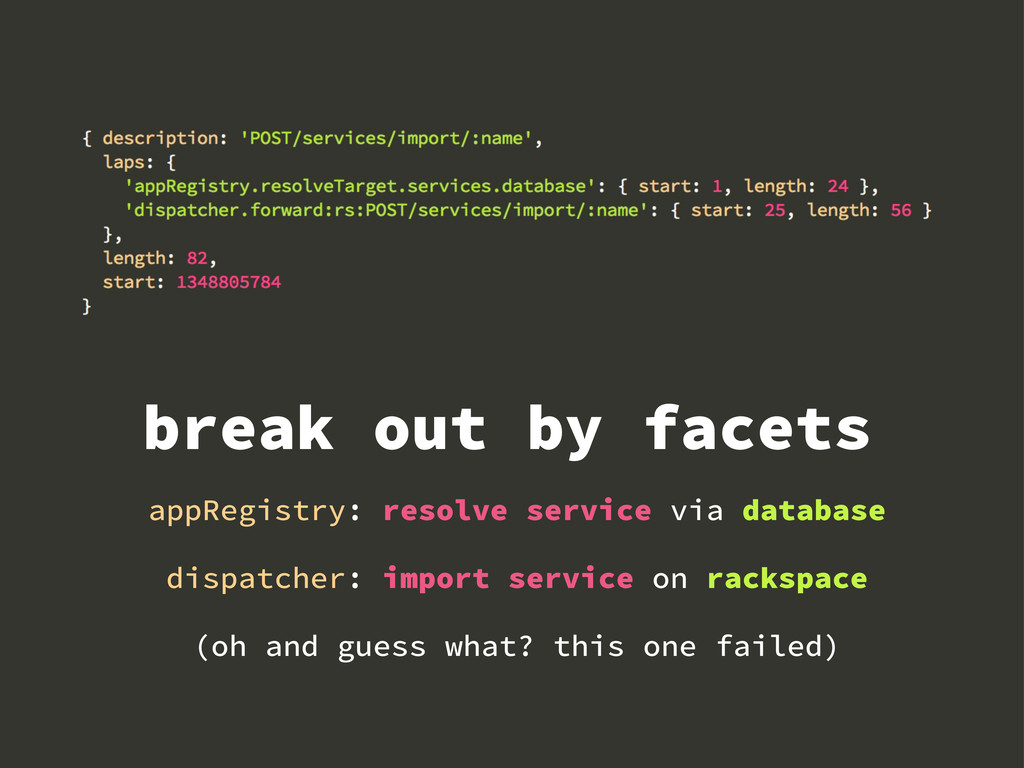 break out by facets appRegistry: resolve servic...