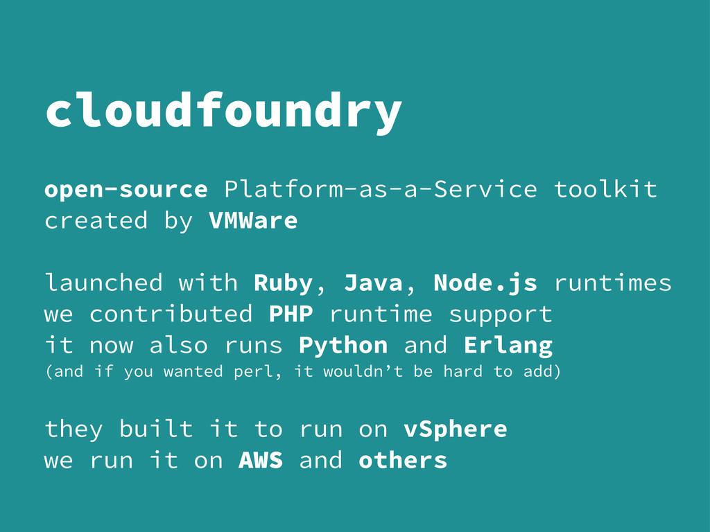open-source Platform-as-a-Service toolkit creat...