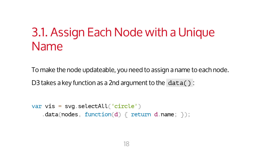 3.1. Assign Each Node with a Unique Name To mak...