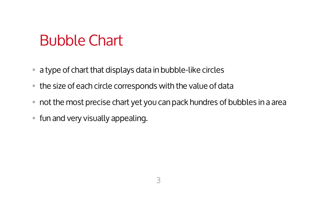 Bubble Chart • a type of chart that displays d...