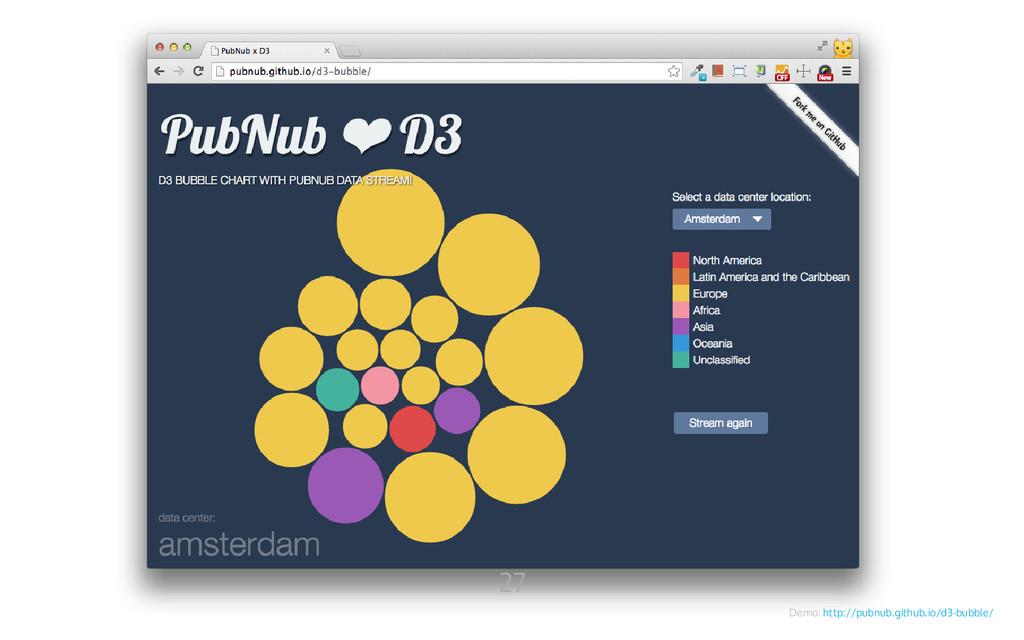 Demo: http://pubnub.github.io/d3-bubble/ 27