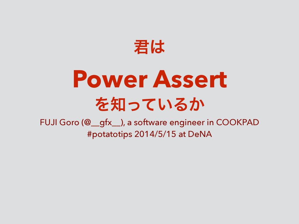 ܅ Power Assert Λ͍ͬͯΔ͔ FUJI Goro (@__gfx__), a...