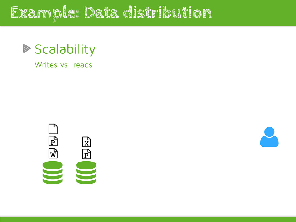 Scalability Writes vs. reads Example: Data dist...