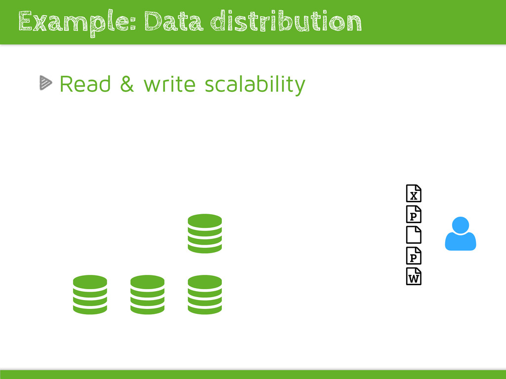 Read & write scalability Example: Data distribu...