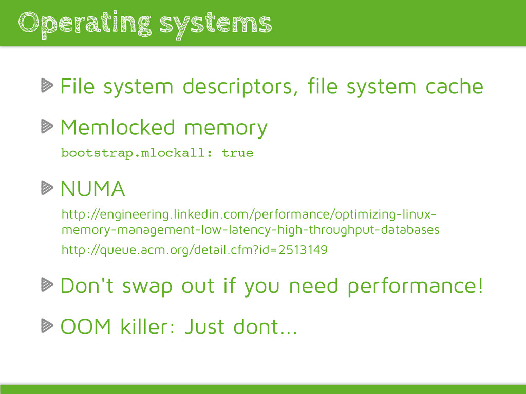 File system descriptors, file system cache Meml...
