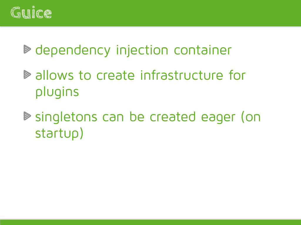 dependency injection container allows to create...