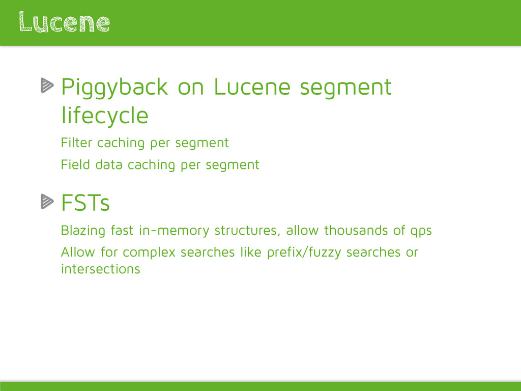 Piggyback on Lucene segment lifecycle Filter ca...