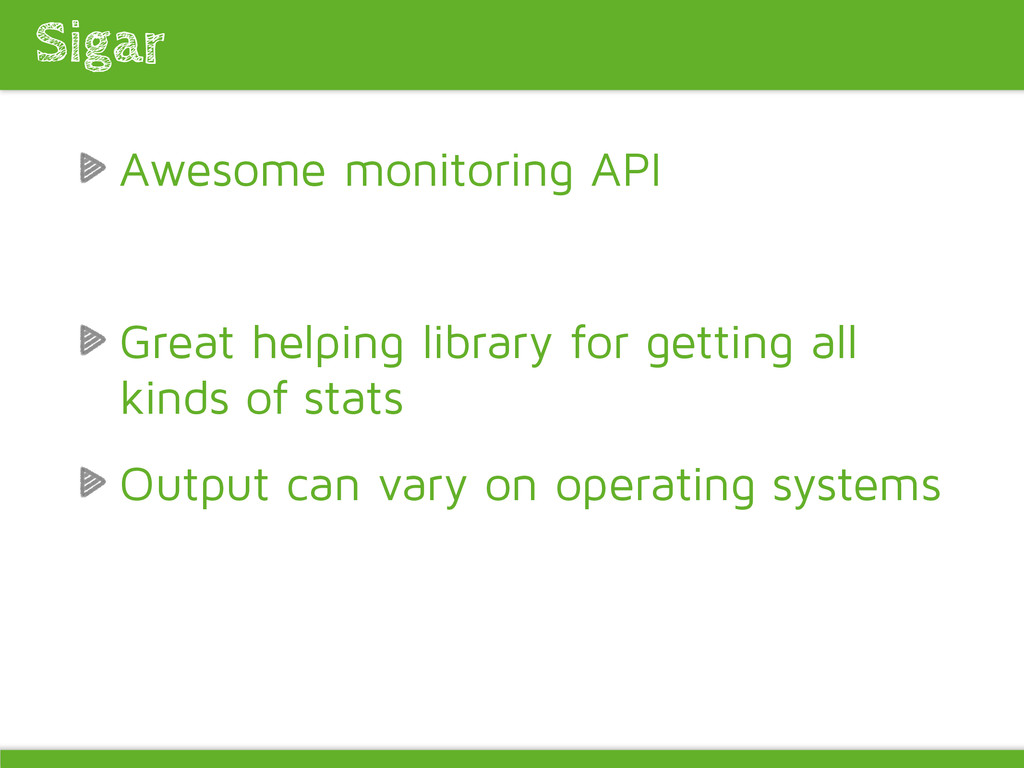 Awesome monitoring API Great helping library fo...