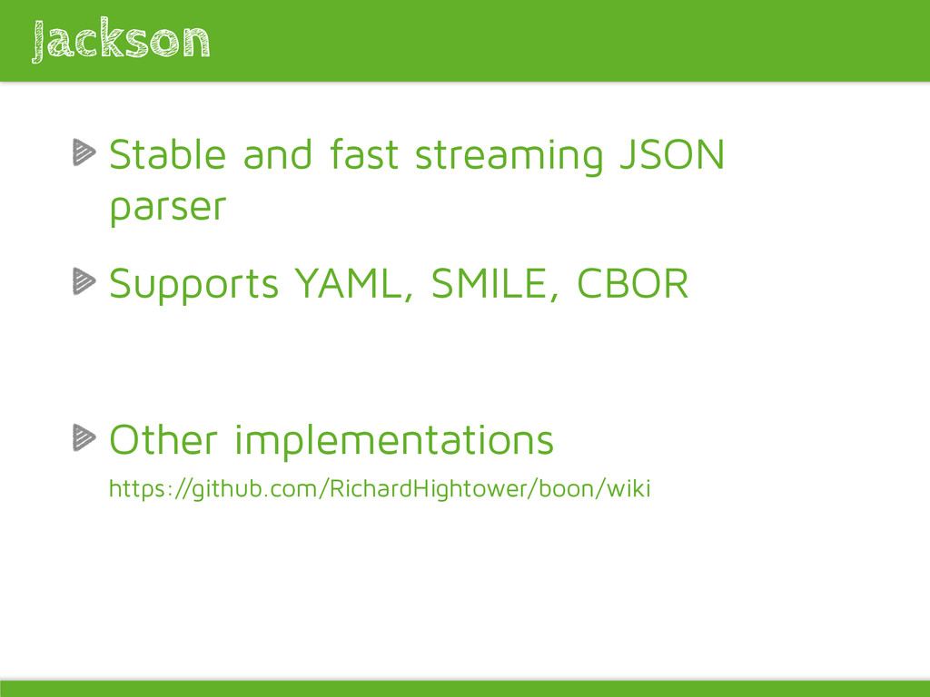 Stable and fast streaming JSON parser Supports ...