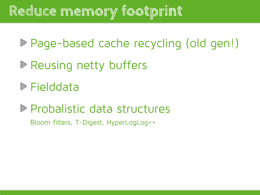 Page-based cache recycling (old gen!) Reusing n...
