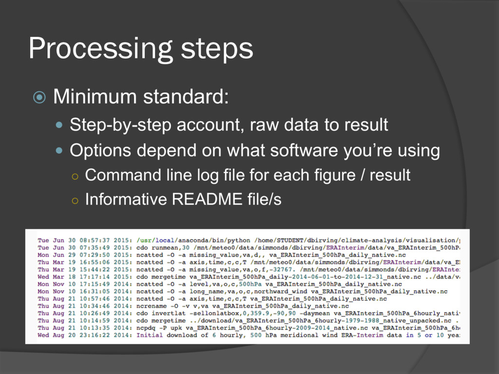 Processing steps ž Minimum standard: — Step-by-...