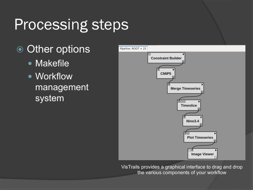 Processing steps ž Other options — Makefile — W...