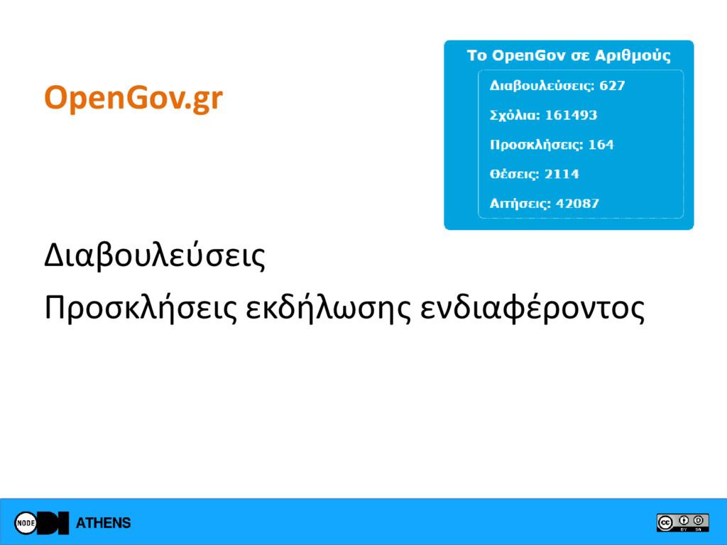 OpenGov.gr Διαβουλεύσεις Προσκλήσεις εκδήλωσης ...