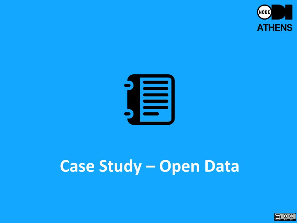 Case Study – Open Data
