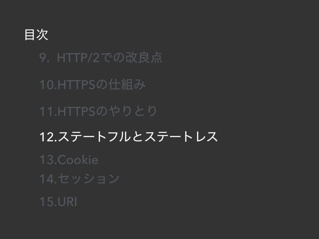  9. HTTP/2Ͱͷվྑ 10.HTTPSͷΈ 11.HTTPSͷΓͱΓ 12...