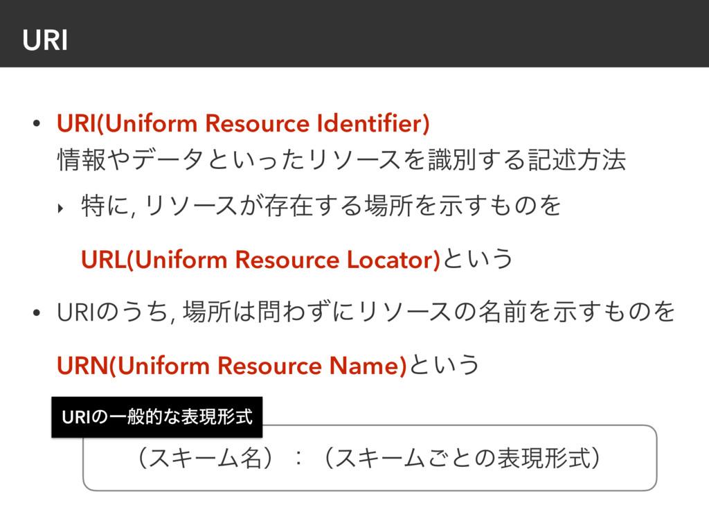 URI • URI(Uniform Resource Identifier) ใσʔλͱ͍...