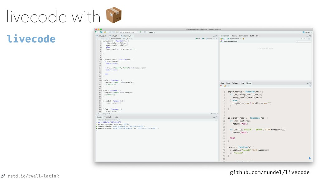 rstd.io/r4all-latinR livecode with  livecode g...