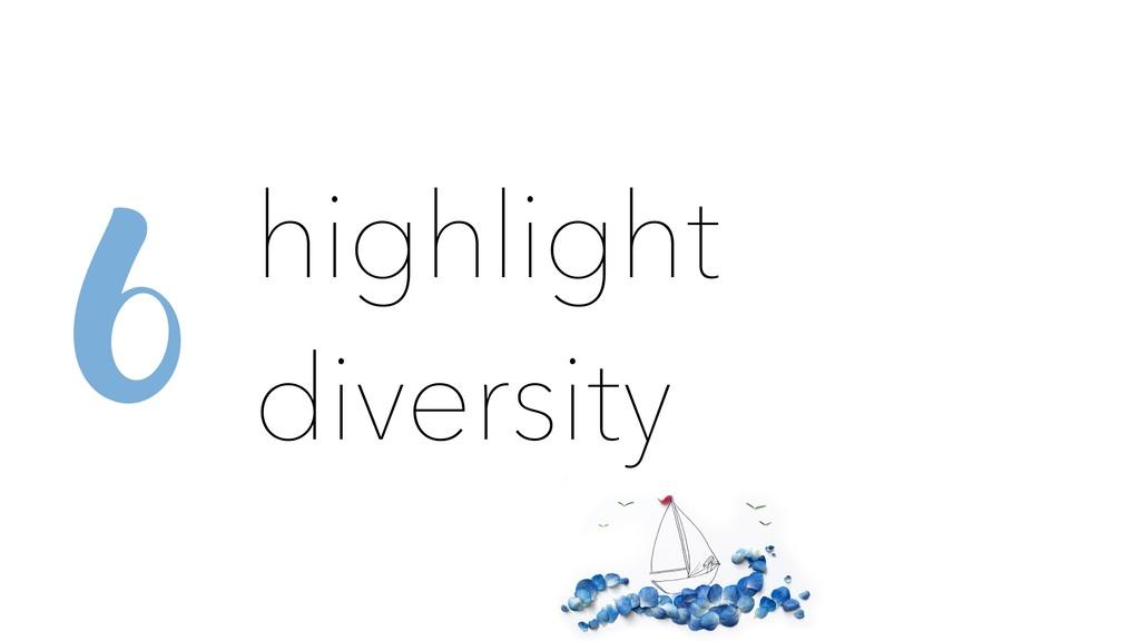 highlight diversity 6