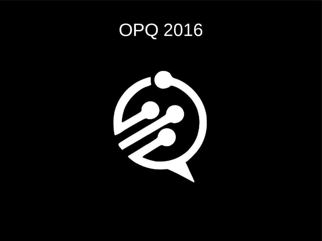 OPQ 2016