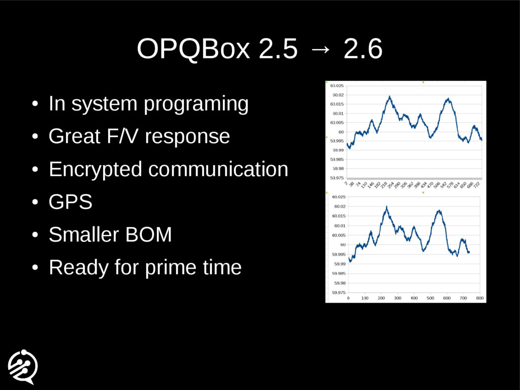 OPQBox 2.5 → 2.6 ● In system programing ● Great...