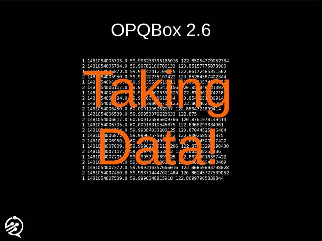 OPQBox 2.6 Taking Data!
