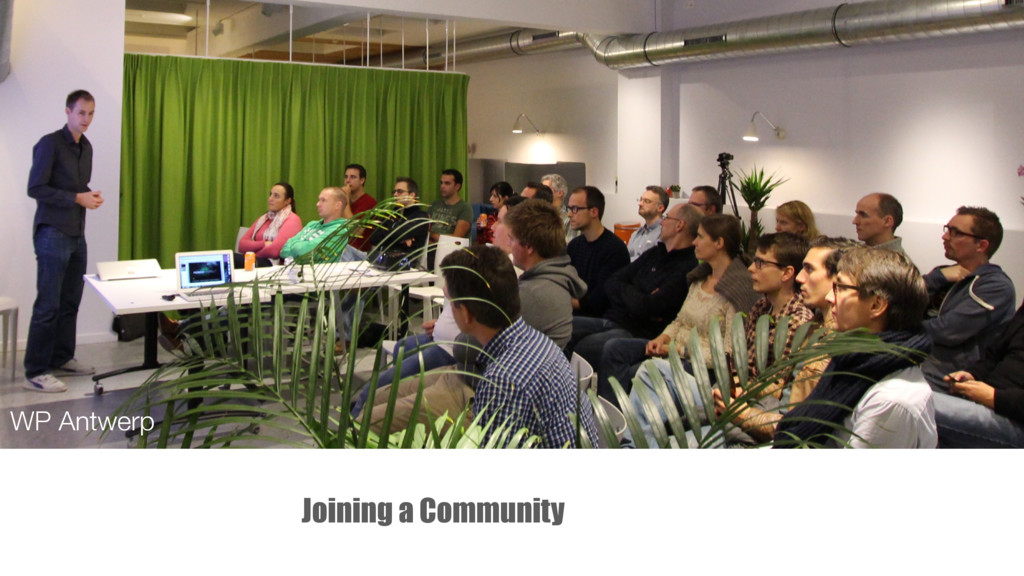 Joining a Community WP Antwerp