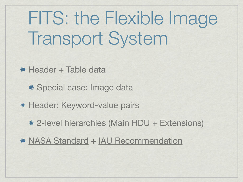 FITS: the Flexible Image Transport System Heade...