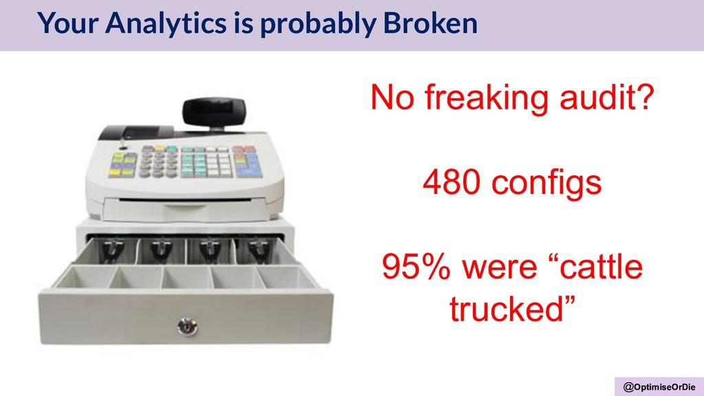 @OptimiseOrDie Your Analytics is probably Broke...