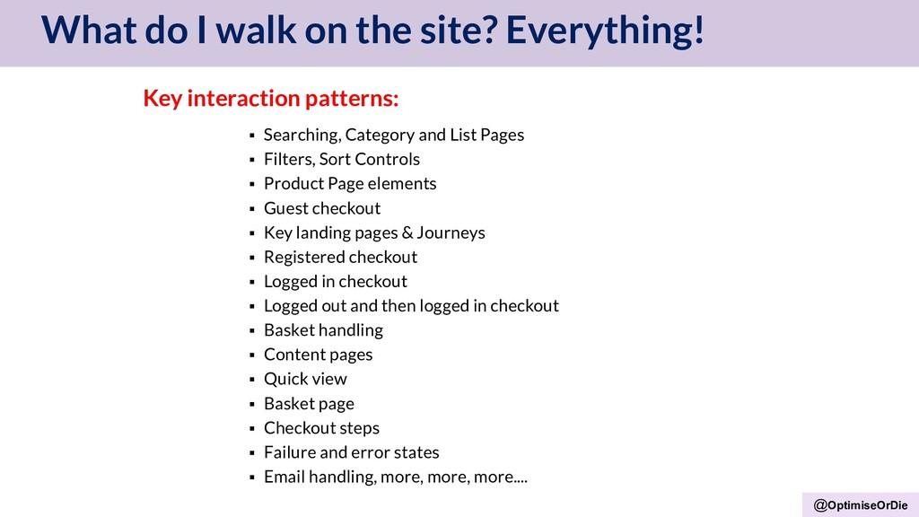 @OptimiseOrDie What do I walk on the site? Ever...